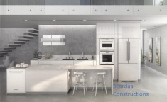 White Kitchen by MDF Gloss.